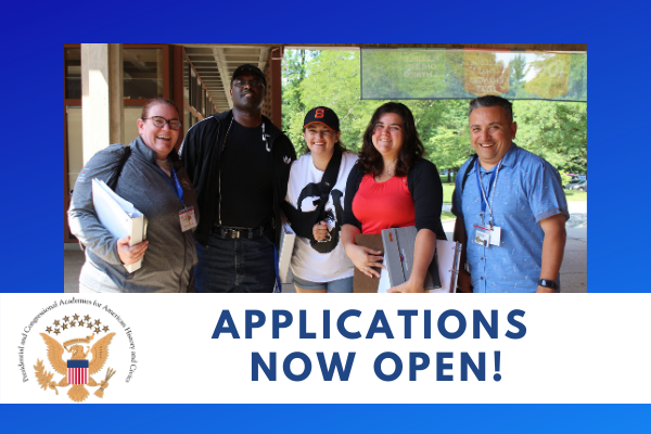 Applications for American History and Civics Academies Now Open!