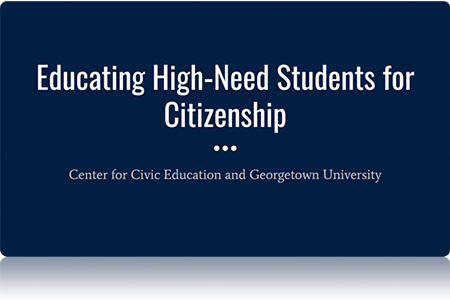 Educating High Needs Students for Citizenship