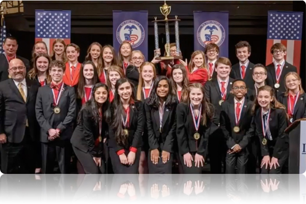 Fishers Junior High School Places First in We the People National Invitational Challenge