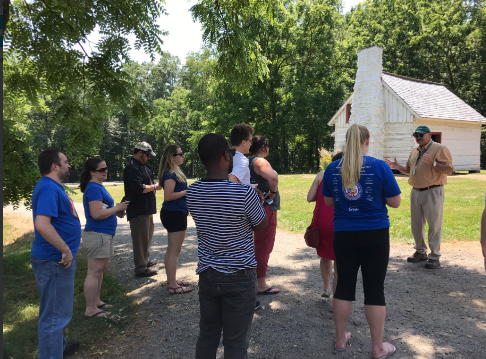 JMLP VA-MD-DC-WV Summer Institute visiting the Montpelier grounds in Virginia