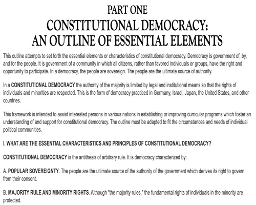 An Outline of Constitutional Democracy